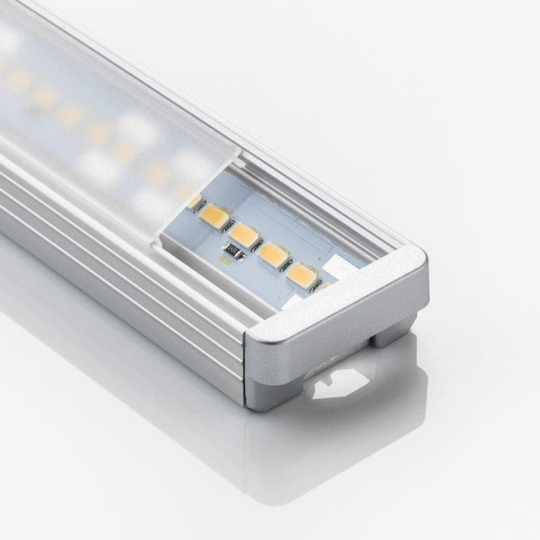 LED-Leuchte LD8003K aluminiumfarben mit Endkappe