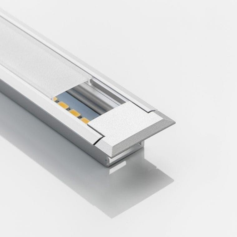 LED-Leuchte LD8003P aluminiumfarben mit Endkappe