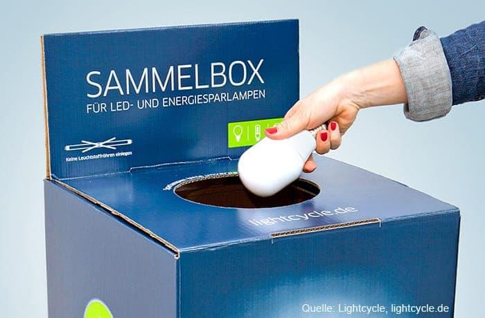 Sammelbox für Altlampen