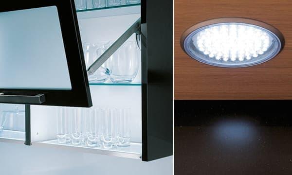 Lichtboden und Radial LED Leuchte