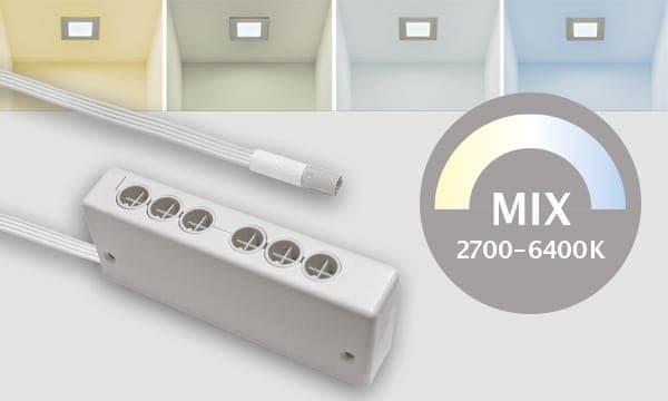 MIX LED Leuchten mit 4poligem Stecksystem Farblichsteuerung
