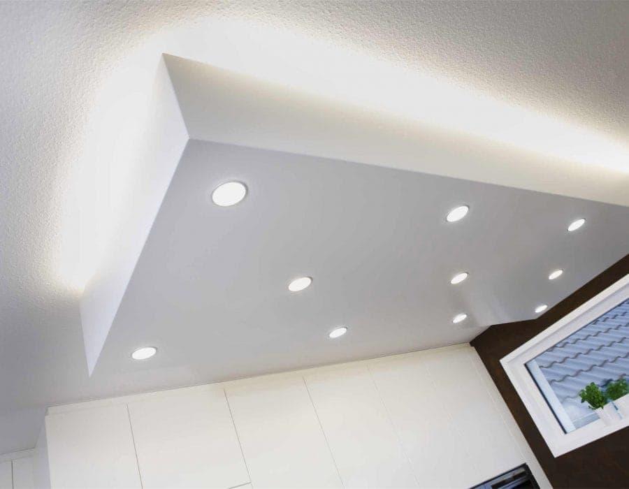 Deckenbeluchtung und Voutenbeleuchtung im Innenausbau