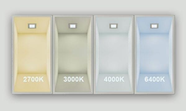 Lichtfarben 2700-6400K