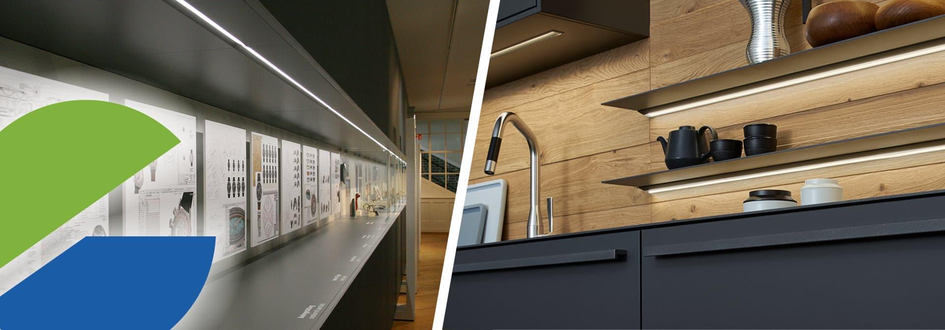 ELEKTRA LED-Leuchten in Küche, Möbel und Ladenbau