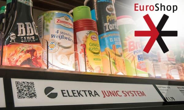 Vorstellung auf der Euroshop: Das Junic Stromleiterprofil jetzt auch für die Datenübertragung.